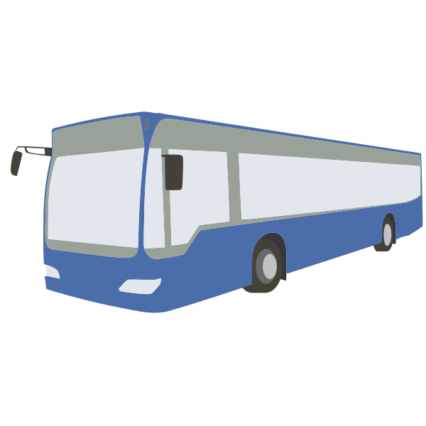 Blue bus vector art