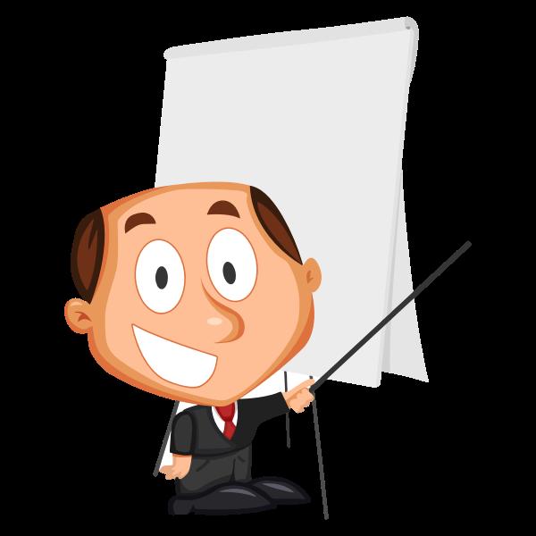 Cartoon businessman