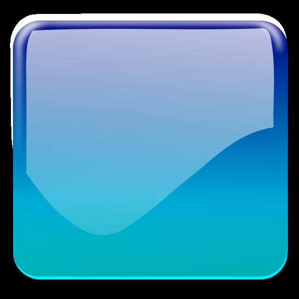 Gloss cyan square decorative button vector clip art