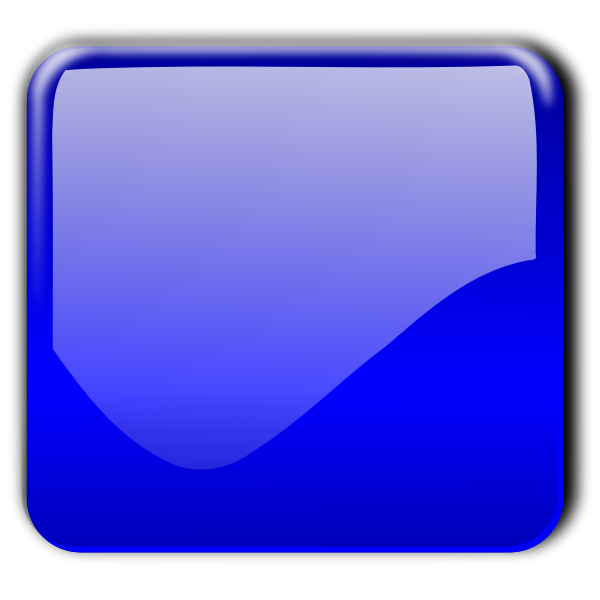Gloss blue square decorative button vector image