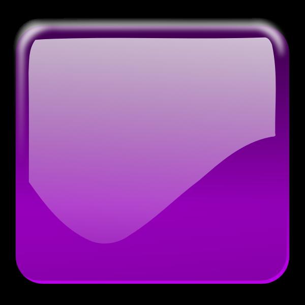 Gloss purple square decorative button vector clip art