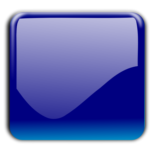 Gloss dark blue decorative button vector illustration