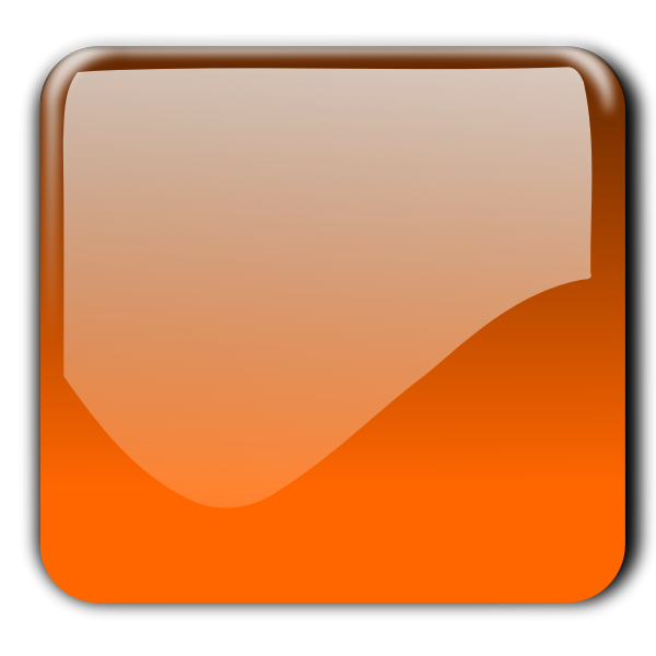 Gloss reddish yellow decorative square button vector image