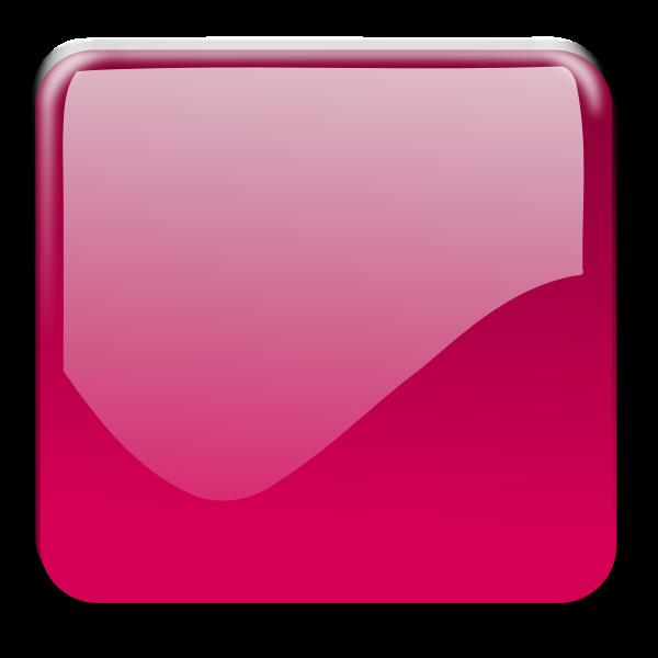 Gloss red square decorative button vector graphics
