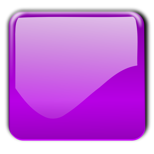 Gloss violet square decorative button vector illustration