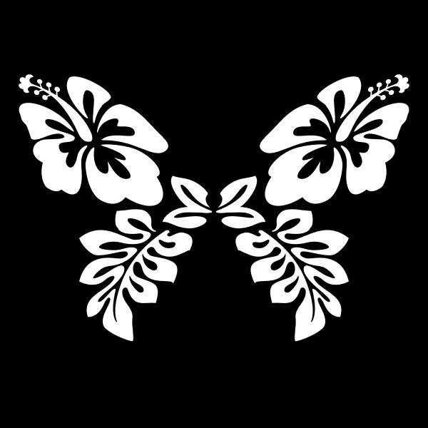 Butterfly flower line art