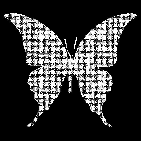 Butterfly Silhouette 6 Maze