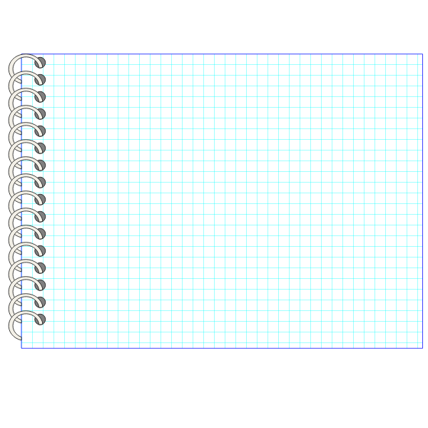 Vector image of spiral notebook