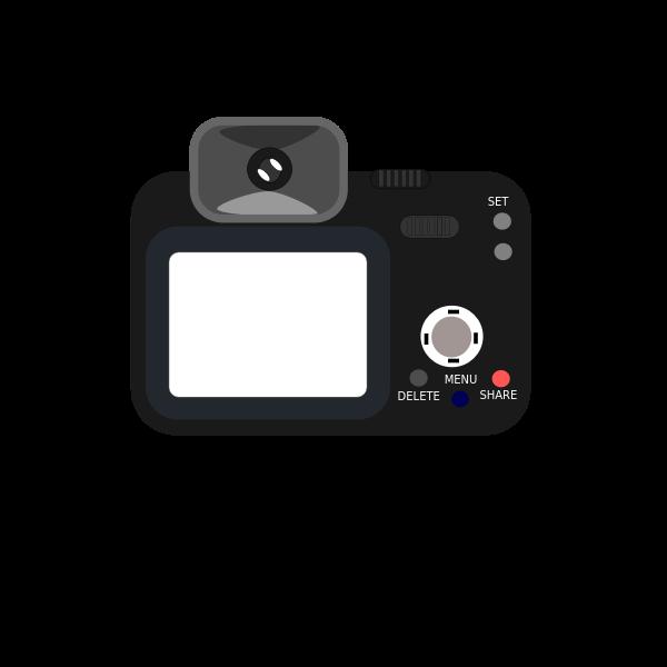Camera back view vector image