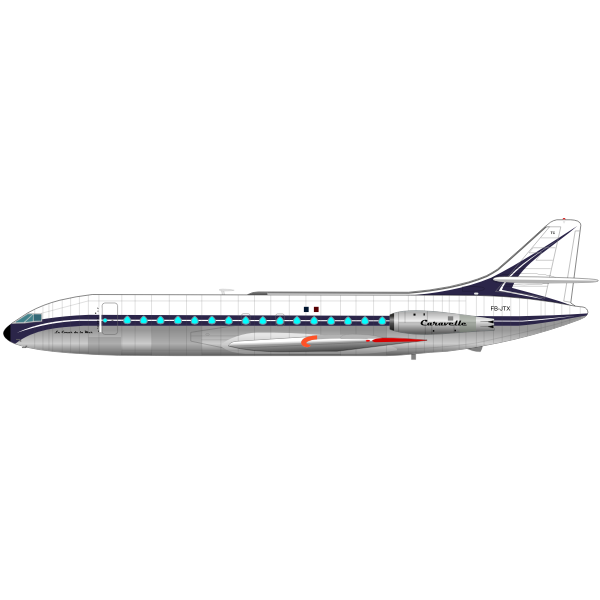 Caravelle airplane
