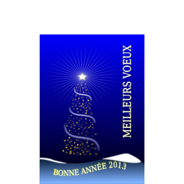 Vector image of New Year card in French