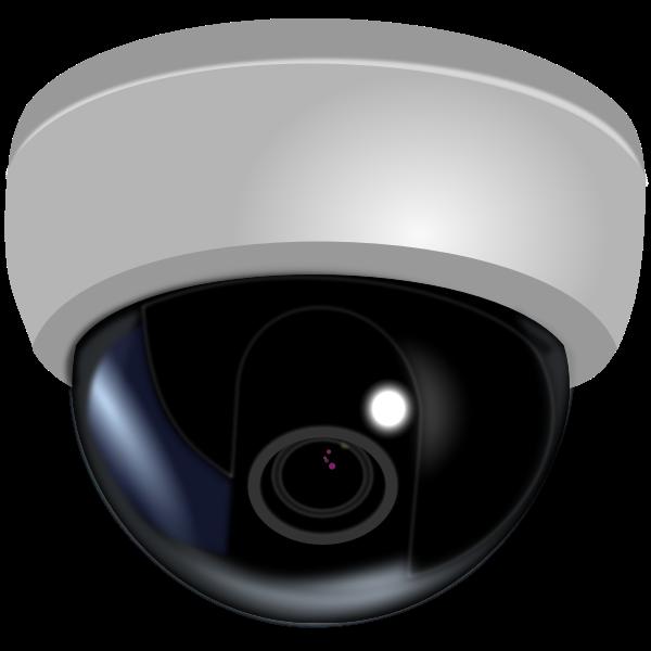 CCTV dome camera vector illustration