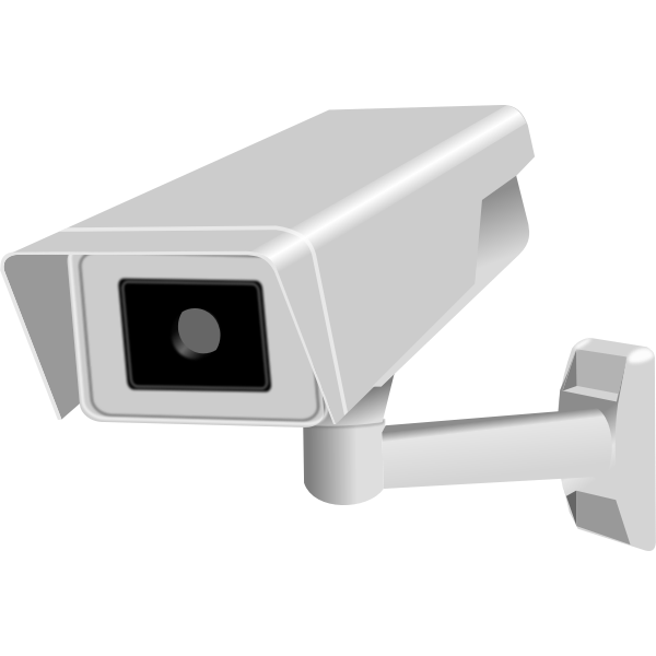 CCTV fixed camera vector image