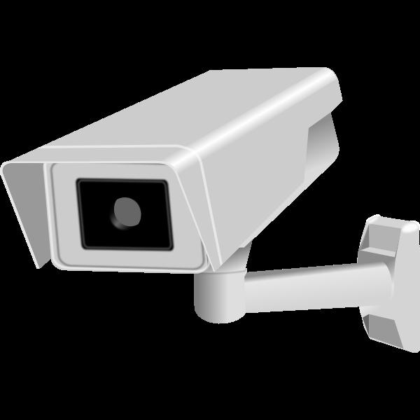CCTV fixed camera vector image