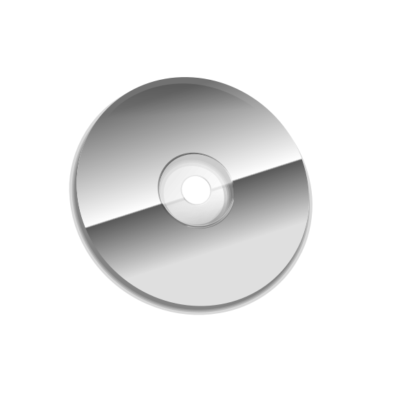 Vector clip art of  grayscale compact disc