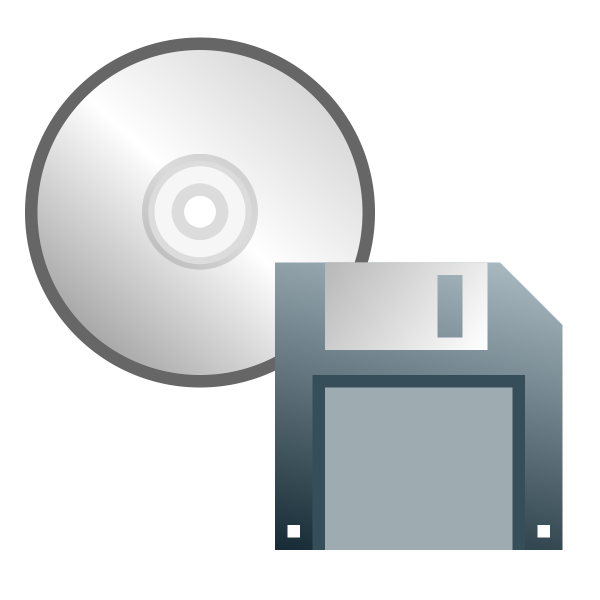 CD or floppy disk icon vector image