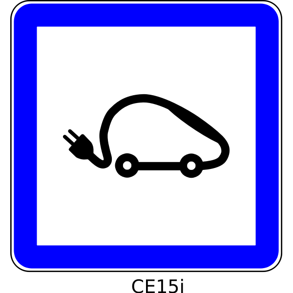 Electrical vehicles symbol