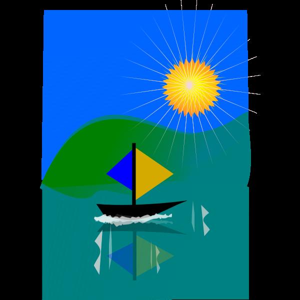 Sailin ship in the bay