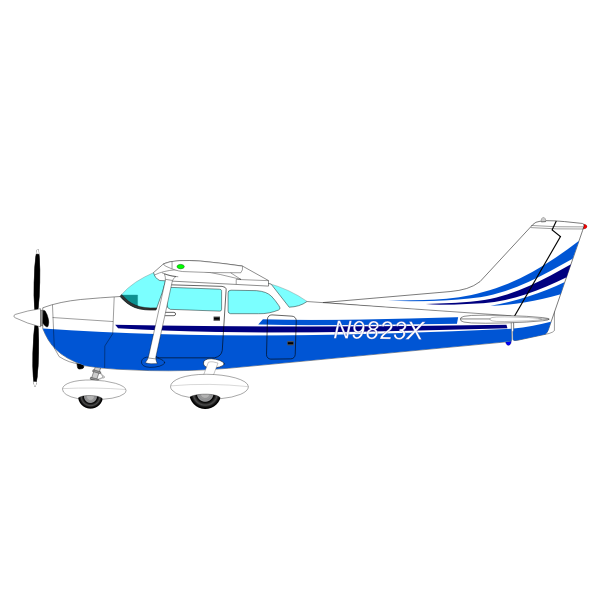 Midsize Airplane Vector Free Svg