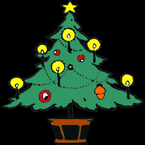 Christmas Tree Sketch Free Svg