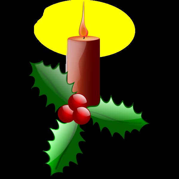 Christmas candle vector graphics