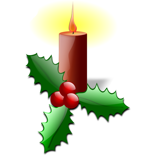 Christmas candle vector graphics
