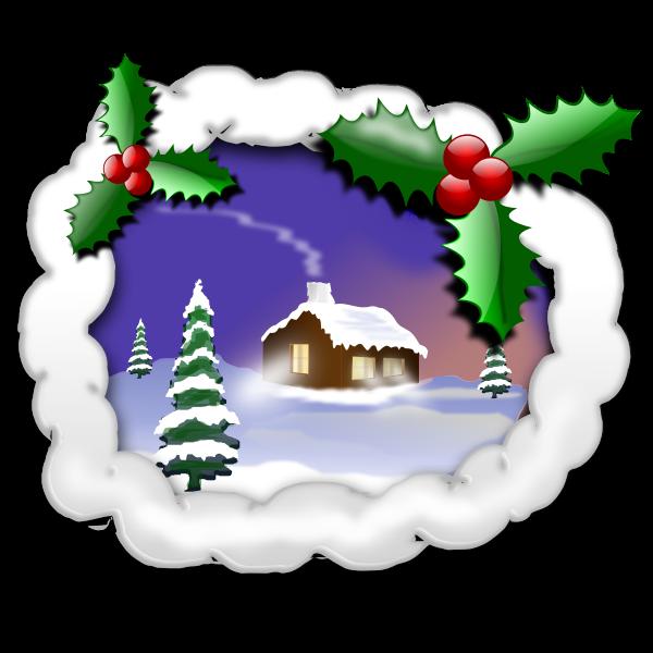 Christmas landscape image