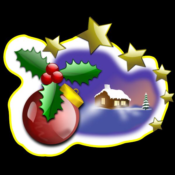 Christmas landscape illustration