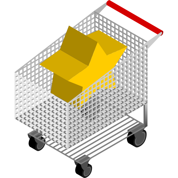 Shopping cart with star