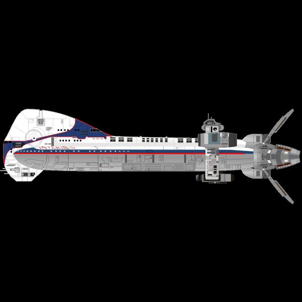 Battle space ship