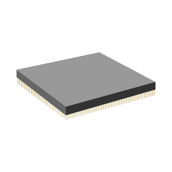 CPU with gold pins vector graphics