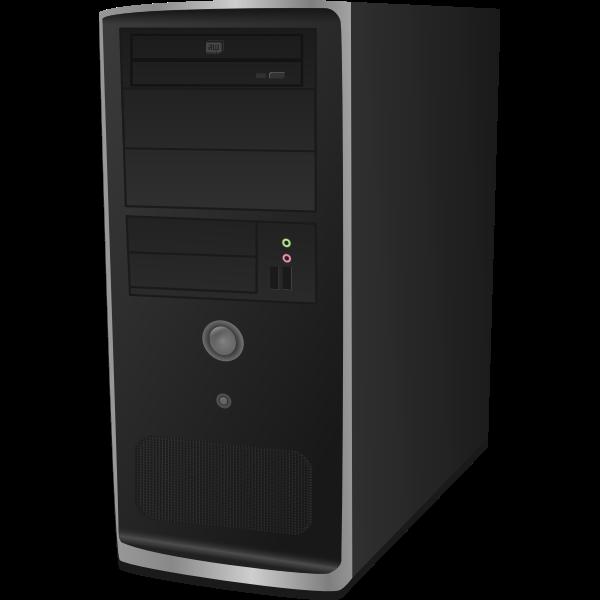 Computer CPU vector clip art