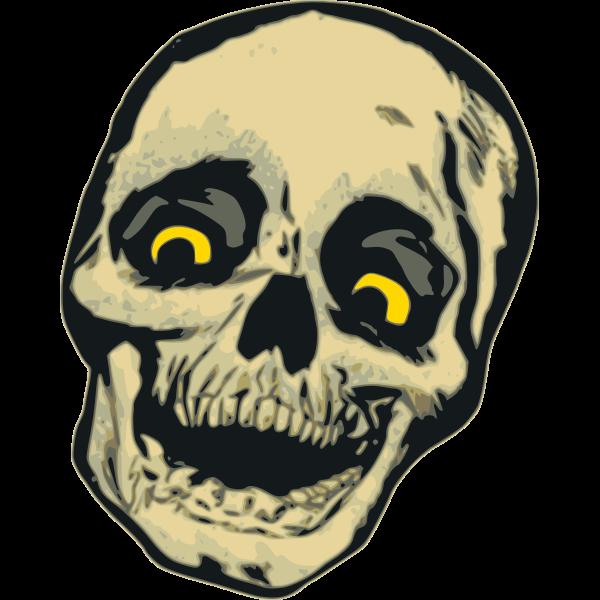 Vector drawing of cackling skull