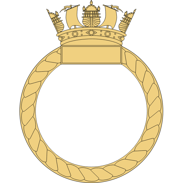 Navy ship badge vector image