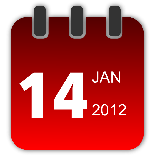 Vector clip art of red daily calendar sign