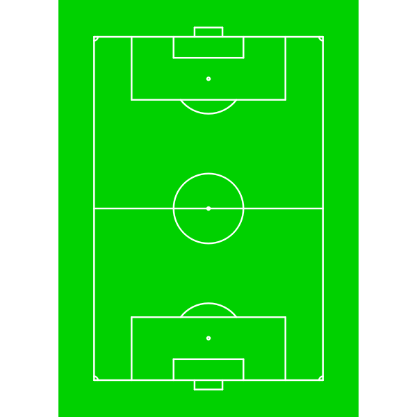 Green playing field vector illustration