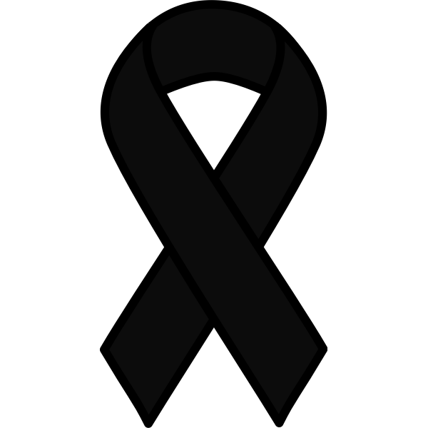 Black Ribbon Free Svg