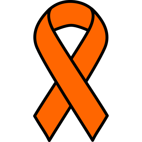 Orange Ribbon Free Svg