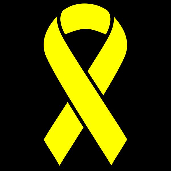 Yellow cancer ribbon