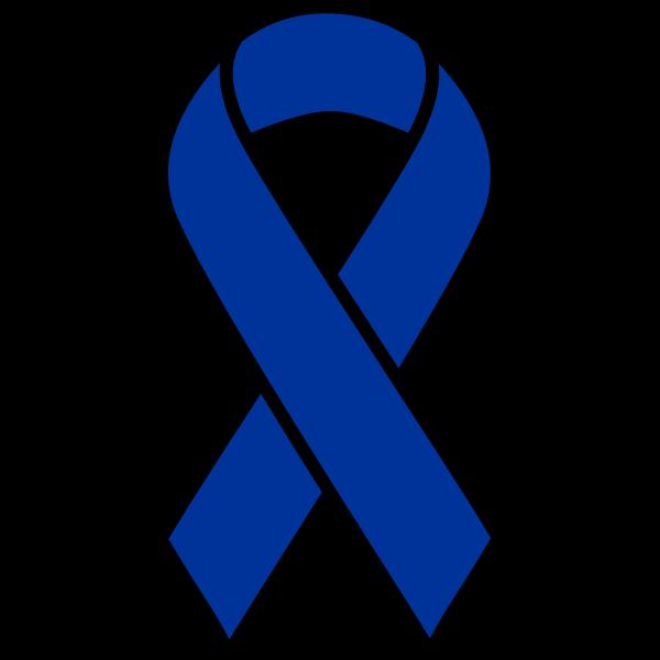 Blue ribbon symbol