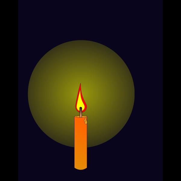 Animation of candle burning