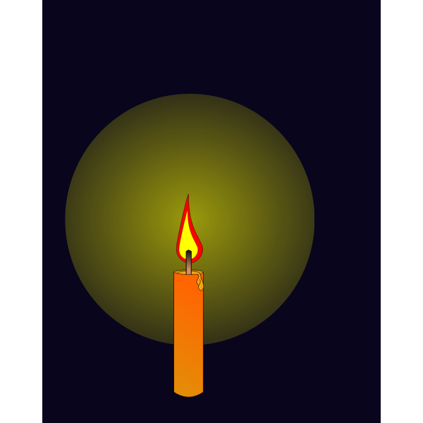 Animation of candle burning