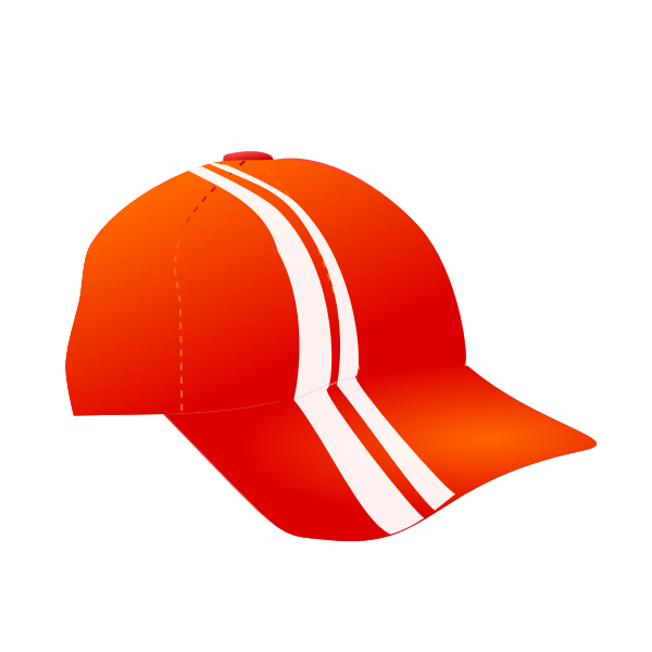 Vector illustration of a cap with racing stripes