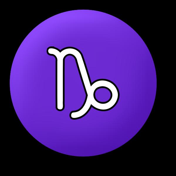 Capricorn purple symbol
