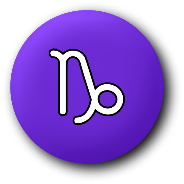 Capricorn purple symbol