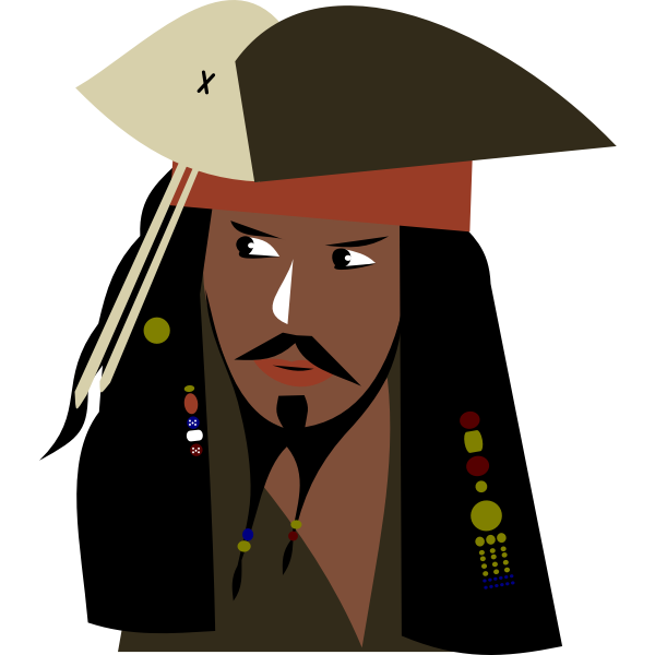 Captain Jack Sparrow simply by Rones