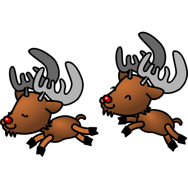 Reindeer vector cartoon