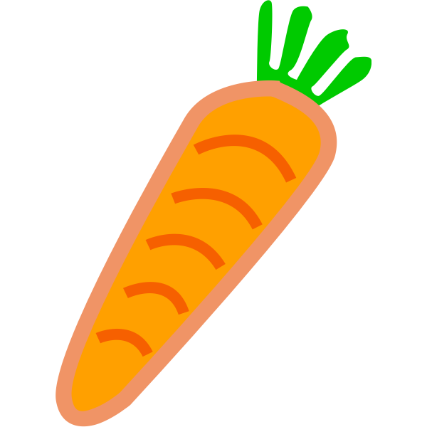 carrot orange with green leafs