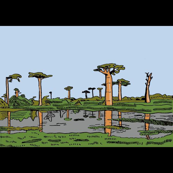Cartoon African Landscape