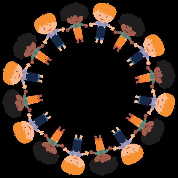Cartoon Boys Circle Large
